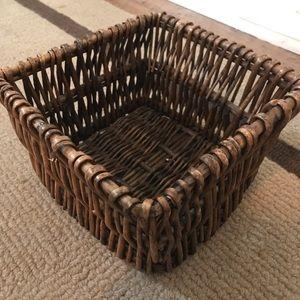 Vintage Square Woven Basket